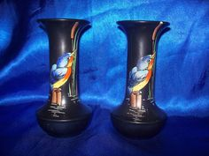 Pair of Shelley Kingfisher Vases by WelshHeirlooms on Etsy