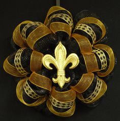 Saints New Orleans Saints Saints Football Poly by wreathsbyrobin