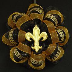Saints New Orleans Saints Saints Football Poly by wreathsbyrobin