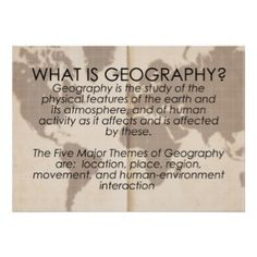 Everyone should learn more about geography!  It offers such a unique perspective in how the world works due to its physical nature and especially how humans interact and are deeply effected by where they live.
