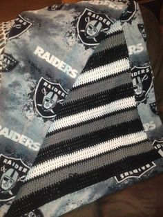 Raiders Blanket Crocheted Items Pinterest Raiders