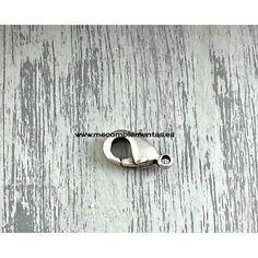 Cierre mosquetón de zamak con baño de plata de 19mm.