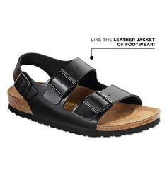 e996e3103f0b  Who What Wear - Birkenstock Milano Leather Sandals ( 120) in Black  Birkenstock Milano