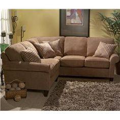 Flexsteel Westside Casual Corner Sectional Fabric Upholstered Sofa ...