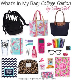 What's In My Bag: College Edition glamgirlxo.com