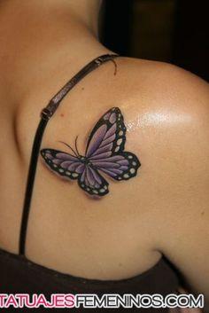 tatuaje de mariposa para mujeres - Buscar con Google