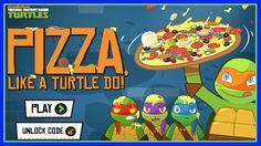 Teenage Mutant Ninja Turtles - Pizza Like a Turtle Do! GAME HD - TMNT 20...