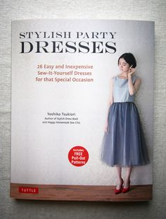 Book Review – Stylish Party Dresses (Now in English) | Japanese Sewing, Pattern, Craft Books and Fabrics
