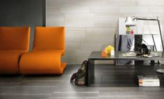 Linear wall tiles as a feature.