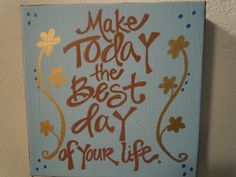 Handpainted 8x8 canvas with quote about life by WordsOfWhimsyJill, $20.00