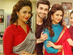 Jav I Divyanka Tripathi Blouse designs - Yeh Hai Mohabbatein Saree Jacket Designs, Fancy Blouse Designs, Dress Neck Designs, Shagun Blouse Designs, Choli Blouse Design, Tv Actress Images, Yeh Hai Mohabbatein, Stylish Blouse Design, Designer Blouse Patterns