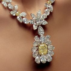 ERosamaria G Frangini | High Yellow Jewellery | xplore the exceptional craftsmanship of the legendary diamond jewelry collection by William Goldberg at the Doha Jewellery Exhibition, Booth 28. Yellow Diamond, Diamond Necklace