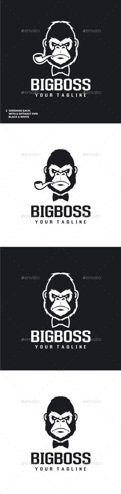 Big Boss - Gorilla Logo Template Vector EPS, AI #design #logotype Download: http://graphicriver.net/item/big-boss-gorilla-logo/11843662?ref=ksioks