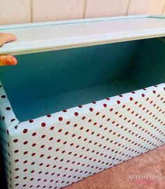 Toy Boxes From Their Old Kitchen Cabinets ... she used the cupboard doors as…