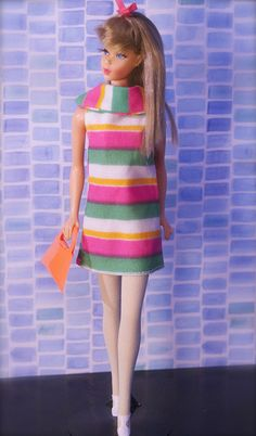 Mod Era Barbie - Twist n' Turn Barbie - Summer Sand                                                                                 I am sure this is Francie, I have her, two of them.