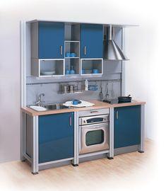 Impressive small kitchen design layouts home ideas layout designs with islands . small kitchen designs l Micro Kitchen, Compact Kitchen, Kitchen Small, Space Kitchen, Small Kitchens, Tiny Spaces, Small Apartments, Studio Kitchen, Kitchen Decor