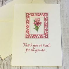 1pc. THANK YOU SO MUCH FOR ALL YOU DO... CARD 🌸  | eBay