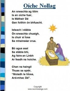 Oíche Nollag « Christmas Classroom Resources for Teachers Scottish Gaelic, Gaelic Irish, Classroom Resources, Teacher Resources, Gaelic Words, 6 Class, Irish Language, Irish People, Irish Cottage