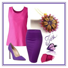 """""""Lilac"""" by hajnalka-szabone-csiby ❤ liked on Polyvore featuring Lands' End, J.TOMSON, Manolo Blahnik and Diesel"""