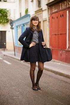 Mode and The City - Blog mode et lifestyle // navy blue peter pan collar and tartan shirt
