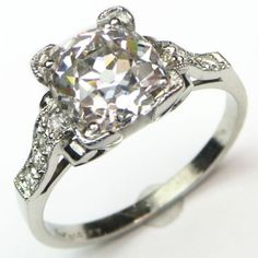 Glamour Girl: A show stopping ring that is ready for its closeup!  Ca. 1940.  Maloys.com