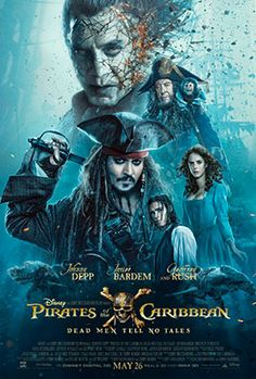 """#MovieOfTheDay Johnny Depp returns to the big screen as the iconic, swashbuckling anti-hero Jack Sparrow in the all-new """"Pirates of the Caribbean: Dead Men Tell No Tales #movies #drama #cinema #moviesthis #film #moviefacts #movienight #watchingmovies"""