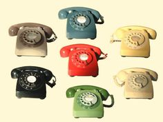 Colored Telephones (Remember When The Slim Line Phones Came Out, How These Looked So Ancient And Uncool)