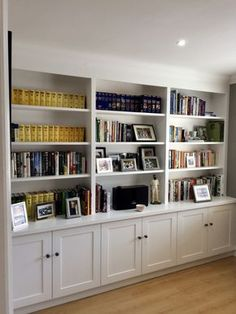 Home Office Shelf Ideas . Home Office Shelf Ideas . Home Fice Room Ideas Home D Create Stylish Productive Built In Shelves Living Room, Home Office Shelves, Living Room Bookcase, Bookcase Wall, Bookshelf Design, Living Room Storage, Built In Bookcase, Wall Shelving, Office Bookshelves
