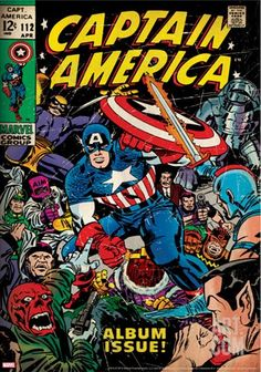 Captain America Comic Book Art | Marvel Comics Retro: Captain America Comic Book Cover No.112, Album ...