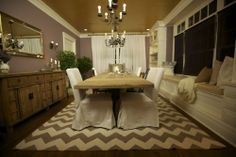 Dining room from Genevieve Gorder...one of my favorite designs I've ever seen on HGTV.