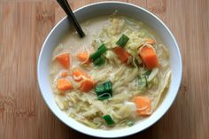 Asian Coconut-Cabbage Soup.