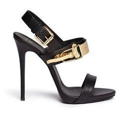 Giuseppe Zanotti Design 'Coline' ski buckle leather sandals
