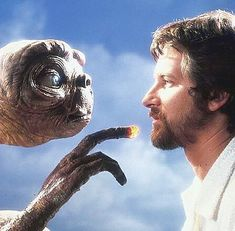 Steven Spielberg and E.T. . . . #et #stevenspielberg #fantasy #photo #photography #film #filmography #80s #1980s #halloween #classic #beauty #beautiful #love #tbt #design #alien #space #forest #director #art #artist #friends #life  #movies #home #heart #food #music #throwback