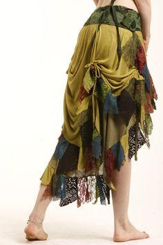 Fabulous BURNING MAN GYPSY elf psytrance pixie skirt ethnic by Gekkoonline, £51.99