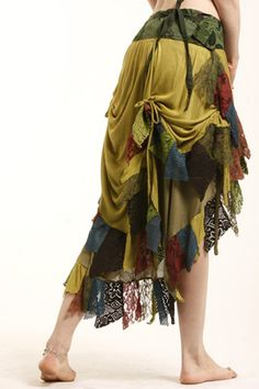 Fabulous BURNING MAN GYPSY elf psytrance pixie skirt ethnic by Gekkoonline, £51.99