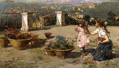 Schiller & Bodo | Artists | Vincenzo Irolli (Italian, 1860 - 1949) | Artworks | On the Terrace