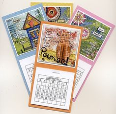 2013 Magnetic Calendar Mini Size  3x6 inches  Fridge by JoyHanna, $5.00
