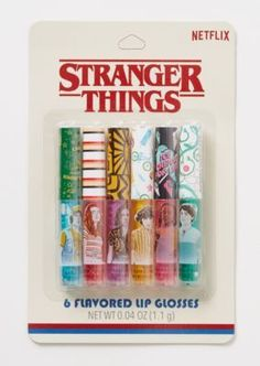 Things Flavored Lip Gloss Set Shop our Stranger Things Flavored Lip Gloss Set!Shop our Stranger Things Flavored Lip Gloss Set! Stranger Things Merchandise, Cast Stranger Things, Stranger Things Netflix, Diy Lip Gloss, Lip Gloss Set, Best Lip Gloss, Gloss Labial, Flavored Lip Gloss, Lipgloss