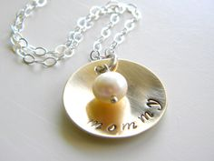 mother's day mommy necklace