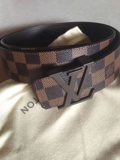 New Louis Vuitton Initiales Mens Belt Size Damier Ebene 6be81ed4a7ee7