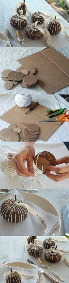 DIY Fruit of Cardboards diy diy ideas diy crafts do it yourself crafty Fall Crafts, Decor Crafts, Halloween Crafts, Holiday Crafts, Diy And Crafts, Christmas Crafts, Crafts For Kids, Christmas Decorations, Arts And Crafts