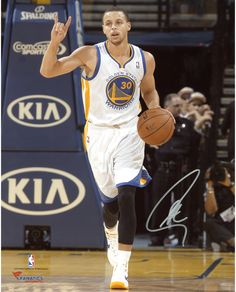 "Stephen Curry Golden State Warriors Autographed 8"" x 10"" Play Calling Photograph"