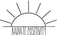 """""""Radiate Positivity"""" Stickers by Lauren Scott   Redbubble"""