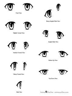 anime eyes | different winks