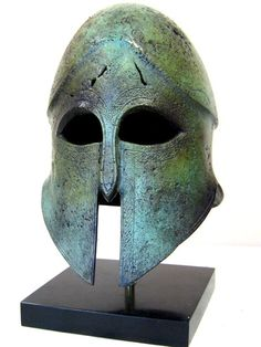 Corinthian Helmet - Museum reproduction - Corinth Greece