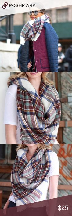 COMING SOON • Teal Plaid Tartan Blanket Scarf COMING SOON • A Fall/Winter favorite! Super comfy and soft blanket scarf. Can be worn as a scarf or thrown on as a shawl. A great gift for the holidays, or a great item to treat yo self with  Will upload my own photos when they arrive.   •100% Acrylic  •58x58 inches  •Price is firm - not accepting offers   ❌No trades ❌Poshmark Transactions Only ❌No asking for the lowest price Accessories Scarves & Wraps