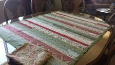 Simple Jelly roll quilt February 2015