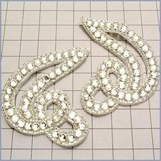 Rhinestone Applique - Left and Right  www.bergerbeads.net  $16.00