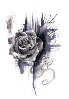 Rose Drawing - idea for tatoo. Bild Tattoos, Love Tattoos, Beautiful Tattoos, Tattoos For Women, Tatoos, Feminine Tattoos, Beautiful Drawings, Neck Tattoos, Body Art Tattoos