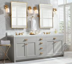 Home Interior: Wealth Pivot Bathroom Mirror Light Gray Vanity With Gold Framed Mirrors For Amazing from Pivot Bathroom Mirror Modern Sink, Modern Bathroom Accessories, Rectangular Mirror, Double Sink Vanity, Gold Bathroom, Vanity Sink, Bathroom Accessories, Bathroom Design, Bathroom